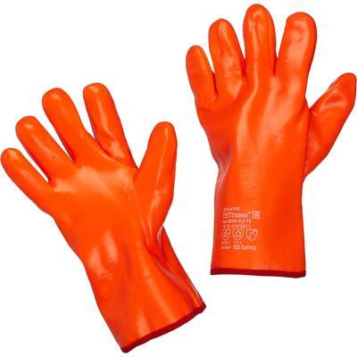 Перчатки рабочие трикотажные с ПВХ покрытием (утепленные, размер 10, XL, манжета раструб)
