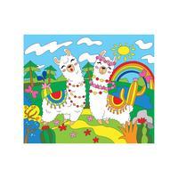 Картина по номерам Рыжий кот Веселые Ламы