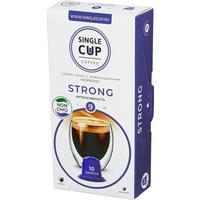 Кофе в капсулах для кофемашин Single Cup Coffee Strong (10 штук в упаковке)