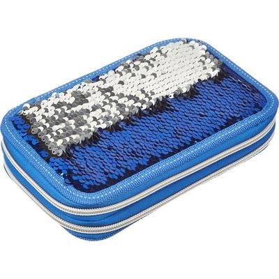 Пенал двухсекционный №1 School Sparkle Blue синий