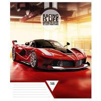 Тетрадь школьная Academy Style Стильные авто А5 18 листов в линейку на скрепке (обложка в ассортименте)