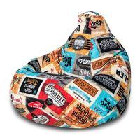 Кресло-мешок Лейбл II (ткань жаккард)