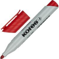 Маркер для бумаги для флипчартов Kores XF1 красный (толщина линии 3 мм)  круглый наконечник