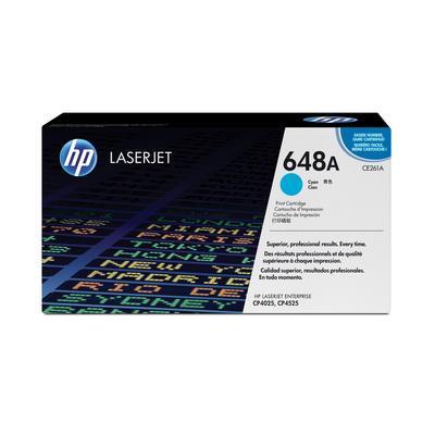 Картридж лазерный HP 648А CE261A голубой оригинальный