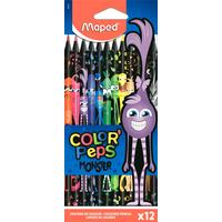 Карандаши цветные Maped Color'Peps Monster 12 цветов трехгранные