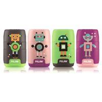 Ластик-точилка Milan Compact Happy Bots в ассортименте