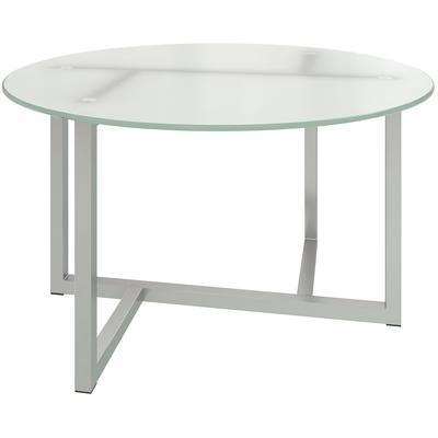 Стол журнальный Триада-11 СМ (стекло матовое/металлик, 730х730х425 мм)