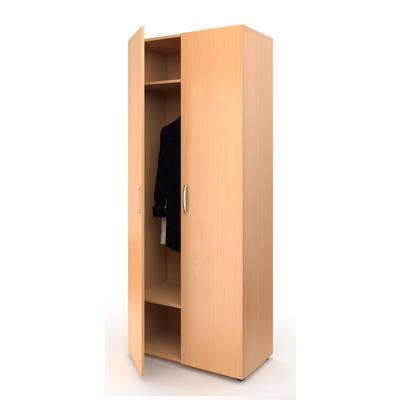 Шкаф МЕТ для одеждый широкий (бук, 800х420х1950 мм)
