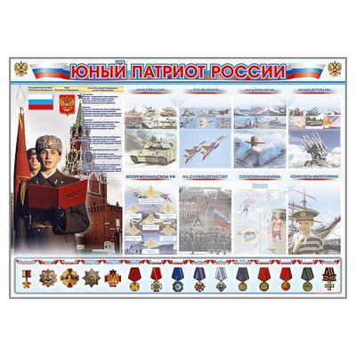 Стенд обучающий Юный патриот России
