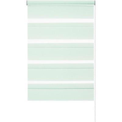 Рулонная штора день/ночь светло-зеленая (370x1700 мм)