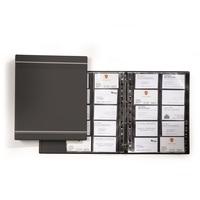 Визитница настольная Durable Visifix пластиковая на 400 визиток антрацитовая
