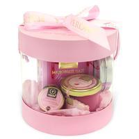 Подарочный набор Peroni-honey Розовое золото (мед-суфле 125 мл, мед-суфле 30мл, чай 45 г, мыло)