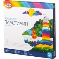 Пластилин классический Гамма Классический 24 цвета со стеком 480 г