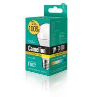 Лампа светодиодная Camelion 13 Вт Е27 грушевидная теплый белый свет