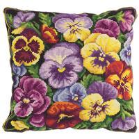 Набор для вышивания Panna подушка Виола (лицевая сторона наволочки 30x30см)