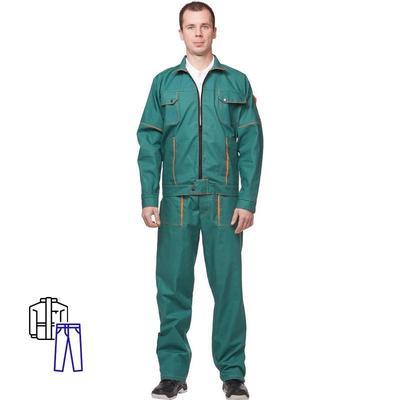 Костюм рабочий летний мужской л06-КБР зеленый (размер 44-46, рост 182-188)