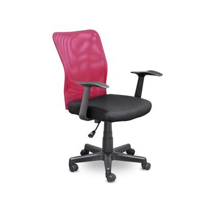 Кресло офисное Энтер черное/красное (ткань/сетка/пластик)