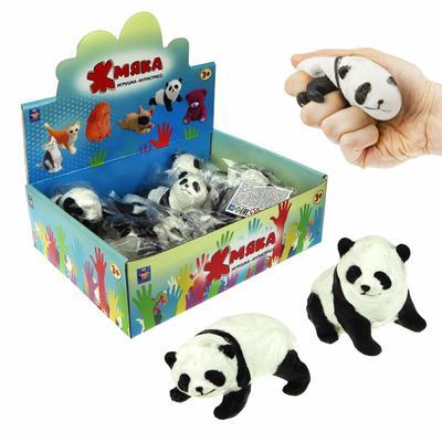 Игрушка-антистресс (слайм) 1toy Жмяка панда (в ассортименте, 12 штук в упаковке, Т19333)