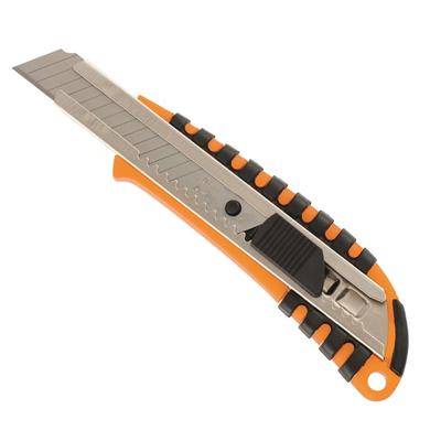 Нож универсальный Sparta с фиксатором и металлическими направляющими с двухкомпонентным корпусом (ширина лезвия 18 мм)
