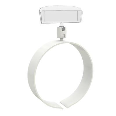 Ценникодержатель кольцевой на колбасу (10 штук в упаковке, артикул поставщика RING-CLIP 65-140)