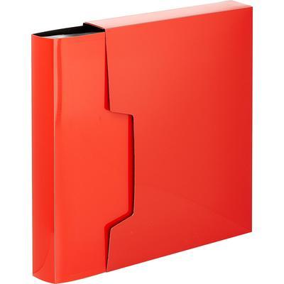Папка файловая на 100 файлов Комус Line A4 40 мм красная в коробе (толщина обложки 0.7 мм)