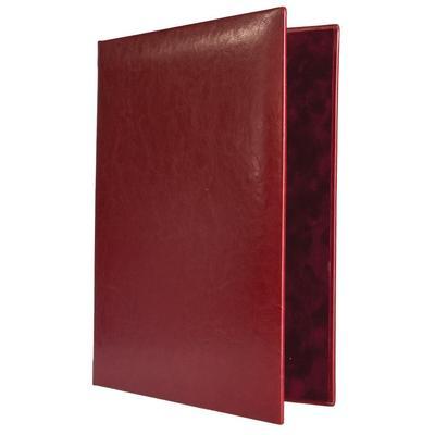 Папка адресная Небраска А4 рециклированная кожа бордовая (выклейка - бархат)