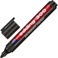 Маркер перманентный Edding E-300/1 черный (толщина линии 1,5-3 мм) круглый наконечник