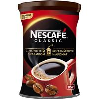 Кофе растворимый Nescafe Classic с добавлением молотого кофе 85 г (железная банка)