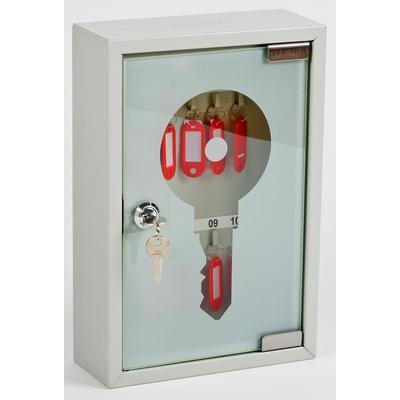 Шкаф для ключей Office-Force 20083 серый (на 10 ключей, металл/стекло)