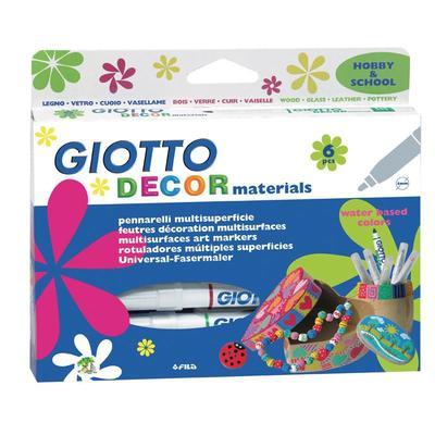 Фломастеры для декорирования Giotto decor materials 6 цветов