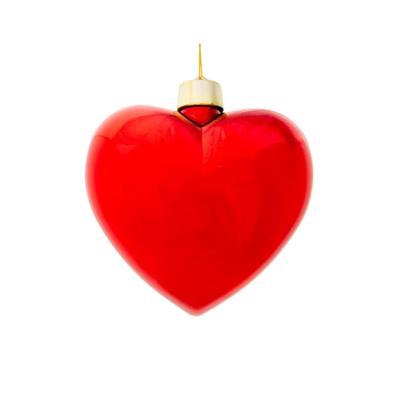 Елочная игрушка Green Trees Сердце пластик красная (высота 15 см, 64 штук в упаковке)