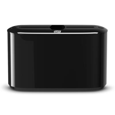 Диспенсер для листовых полотенец Tork Xpress H2 настольный пластиковый черный