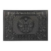 Обложка для паспорта из натуральной кожи черного цвета (1,12г-211)