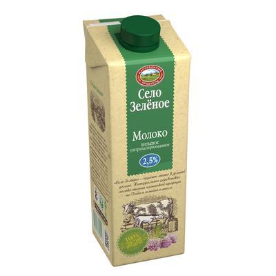 Молоко Село Зеленое питьевое ультрапастеризованное 2.5%  950 мл