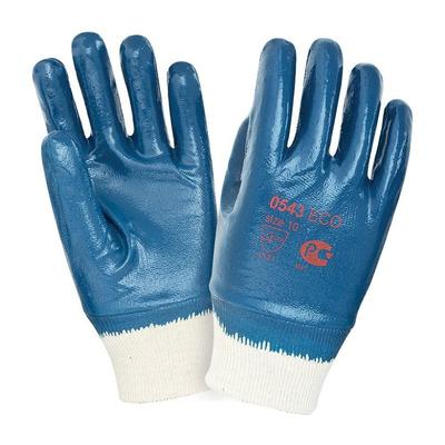 Перчатки рабочие трикотажные 2Hands 0543 с тяжелым нитриловым покрытием (манжета резинка размер 10)