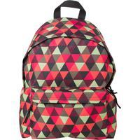 Рюкзак молодежный №1 School Красно-зеленые треугольники разноцветный