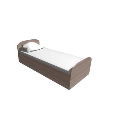 Кровать односпальная МК Гостиница (ясень шимо светлый, 840x1950x820 мм)