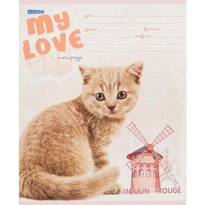 Тетрадь школьная Проф-пресс Любимый кот А5 12 листов в линейку (обложка в ассортименте)