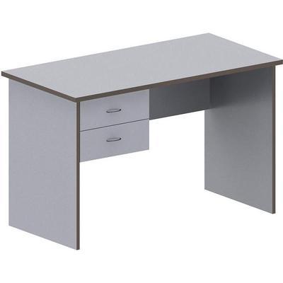 Стол письменный Агат АСС-62 со встроенной тумбой (серый, 1200x600x750 мм)