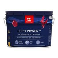 Краска моющаяся Tikkurila Euro Power 7 A белая матовая 9 л