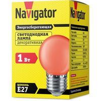 Лампа светодиодная Navigator NLL-G45-1-230-R-E27 1 Вт E27 красн. (71827)