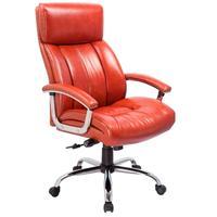Кресло для руководителя Easy Chair CS-8822E-1 коричневое (натуральная кожа с компаньоном, металл)