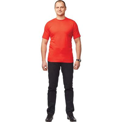 Футболка красная короткий рукав 100% хлопок S (40-42)