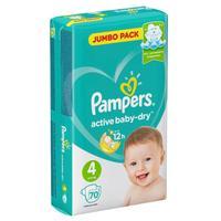 Подгузники Pampers Active Baby-Dry размер 4 (L) 9-14 кг (70 штук в упаковке)
