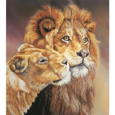 Набор для вышивания Panna Живая картина Львы