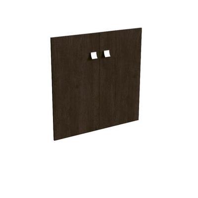 Комплект низких деревянных дверей 12554 (венге, 770x16x770 мм)