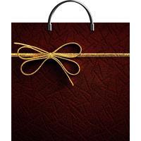 Пакет подарочный полиэтиленовый Золотой бантик (36x37x7 см)