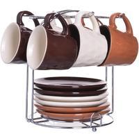 Сервиз кофейный Mayer & Boch 90 мл на 6 персон на подставке (24668)