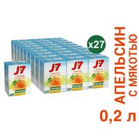 Сок J7 апельсиновый с мякотью 0.2 л (27 штук в упаковке)