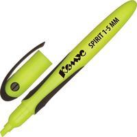 Текстовыделитель Комус Spirit желтый (толщина линии 1-5 мм)